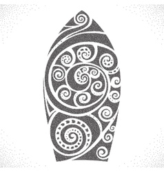 Surf board Dotwork pattern vector image