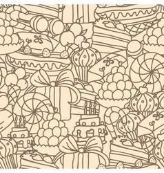 Sweet pattern monochrome vector