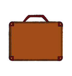 Travel suitcase icon image vector