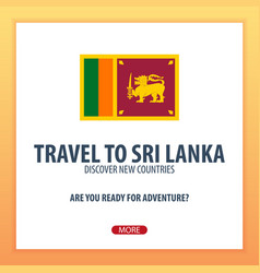 travel to sri lanka discover and explore new vector image