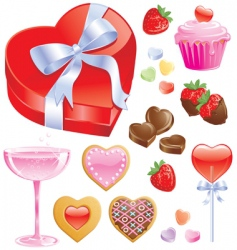 Valentine treats vector