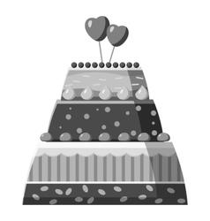 Wedding cake icon gray monochrome style vector image