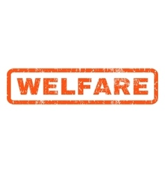 Welfare rubber stamp vector