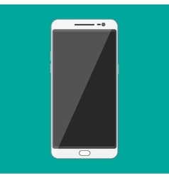White modern touch screen smartphone vector image vector image