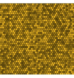 Yellow honeycomb background vector image