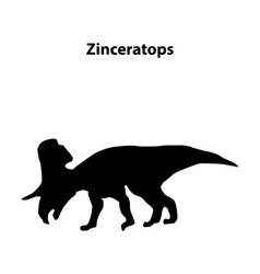 Zinceratops dinosaur silhouette vector