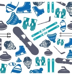 Winter sports pattern icon vector