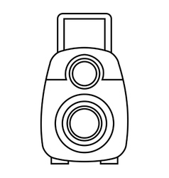 Video camera film handy icon vector
