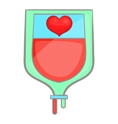 Donate blood concept icon cartoon style vector