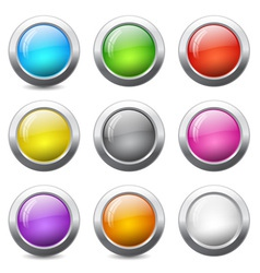 Circle web buttons vector