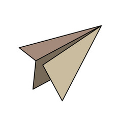 Paper airplane school success knowledge strategy vector