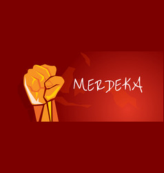 Indonesia independence merdeka hand fist arm vector