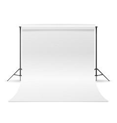 White photo studio empty white canvas vector