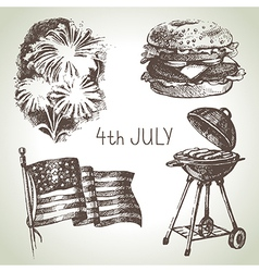 4th of July set vector image