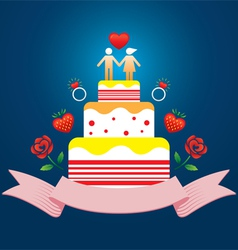 Human symbol lover on top of cake vector