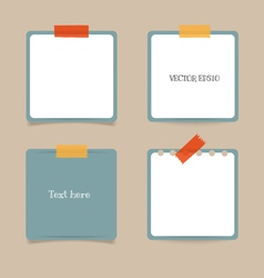 Collection of note papers ready for your message vector