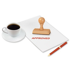 coffee and approved vector image