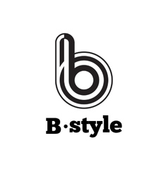 Modern black and white abstract logo b vector