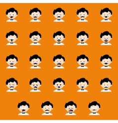 Halloween expression faces vector