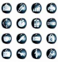round black high-gloss office buttons vector image