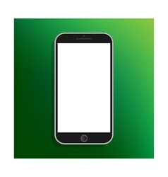 Modern smartphone with empty screen vector