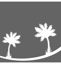 Palm tree on gray background vector