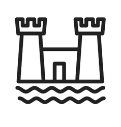 Castle on beach vector