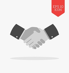 Handshake icon flat design gray color symbol vector