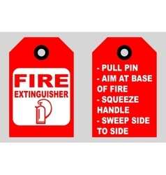 How to use a fire extinguisher informational tags vector