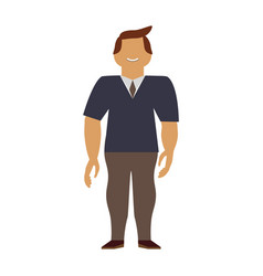 Adult male avatar young vector