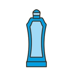 Blue plastic bottle water portable gym element vector