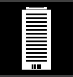 building white color icon vector image vector image