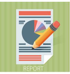 Business report paper modern flat style design vector