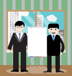 Business team show presentation vector