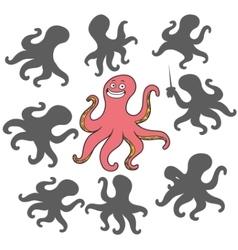 Cartoon octopus vector