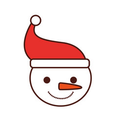 christmas snowman hat character winter vector image vector image