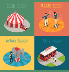 circus isometric 2x2 design concept vector image