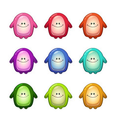 Colorful funny monsters set vector
