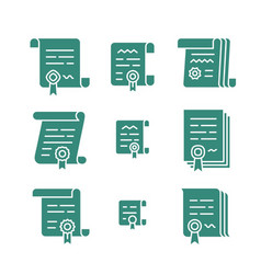 Contract solid icons vector