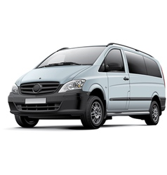 European minicoach vector image vector image