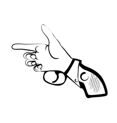 Hand as gun vector