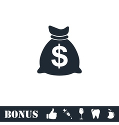 Money icon flat vector image vector image