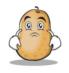 Moody potato character cartoon style vector