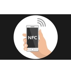 NFC smart phone concept flat icon vector image vector image