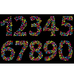 number letters vector image vector image