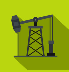 Oil pump icon flat style vector