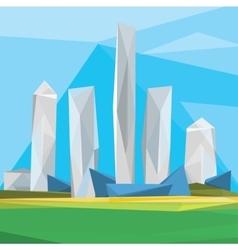 Polygonal cityscape vector