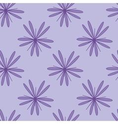 Purple flower seamless pattern 1 vector image