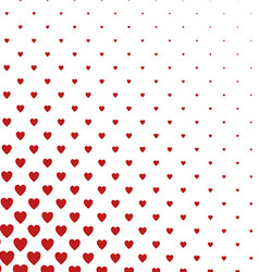 Red and white heart pattern background vector