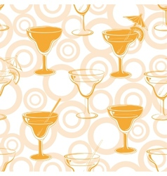Seamless background glasses silhouettes vector image